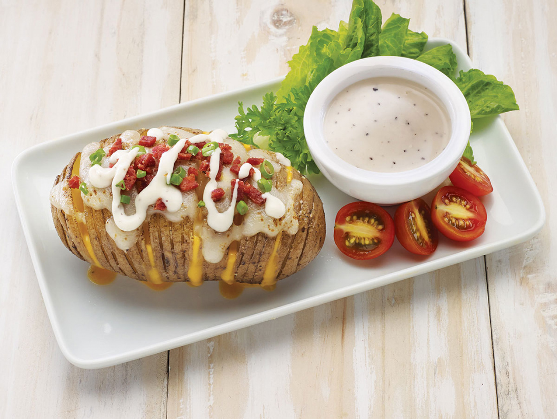 Sliced Potato with Caesar