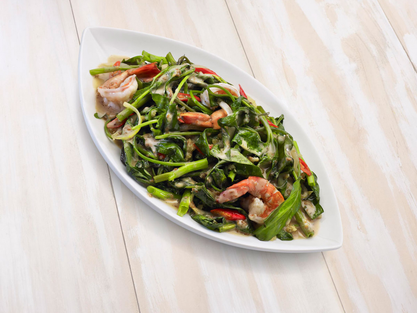 Sautéed Water Spinach with Roasted Sesame