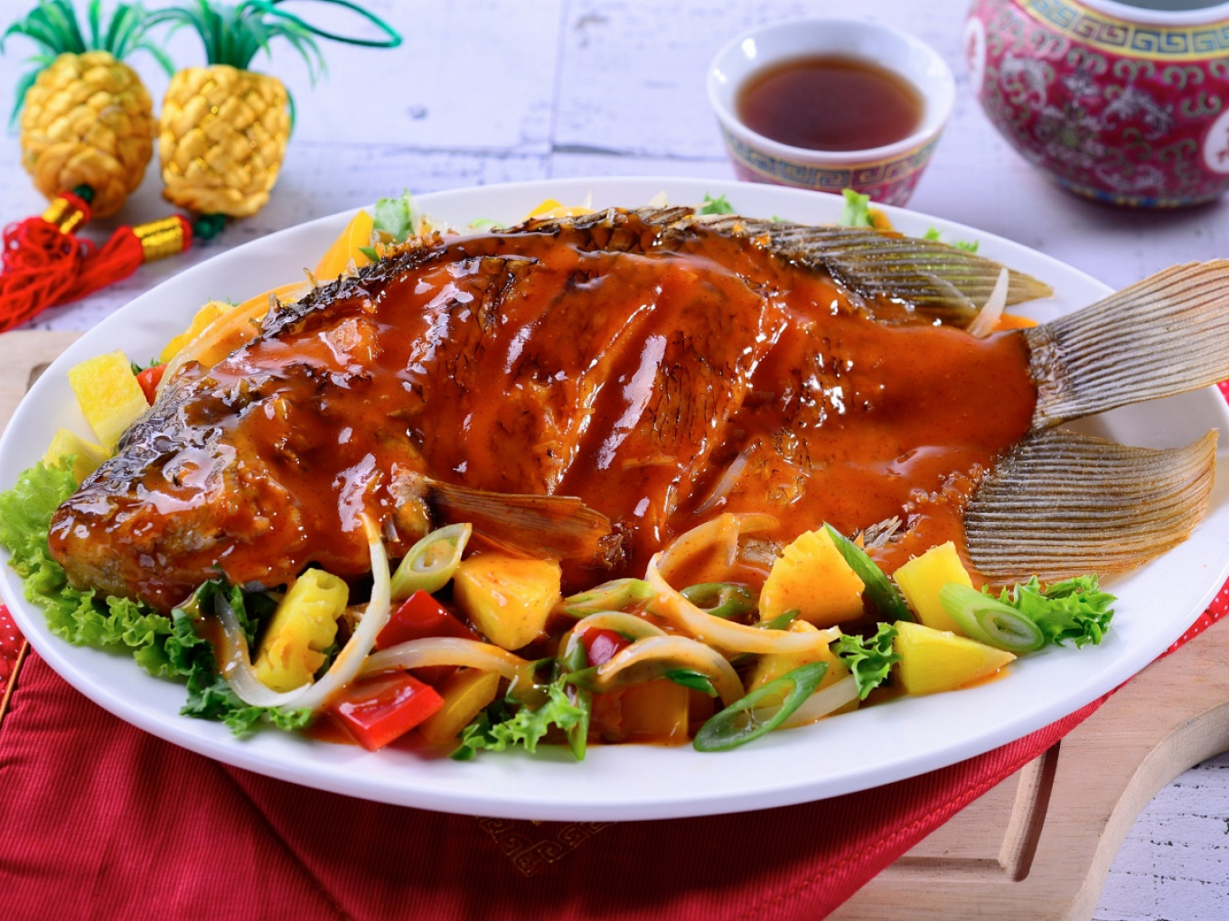 Fish with Pineapple