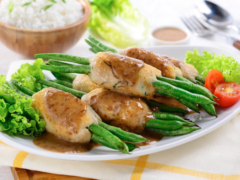 Buncis Ayam Wijen Sangrai