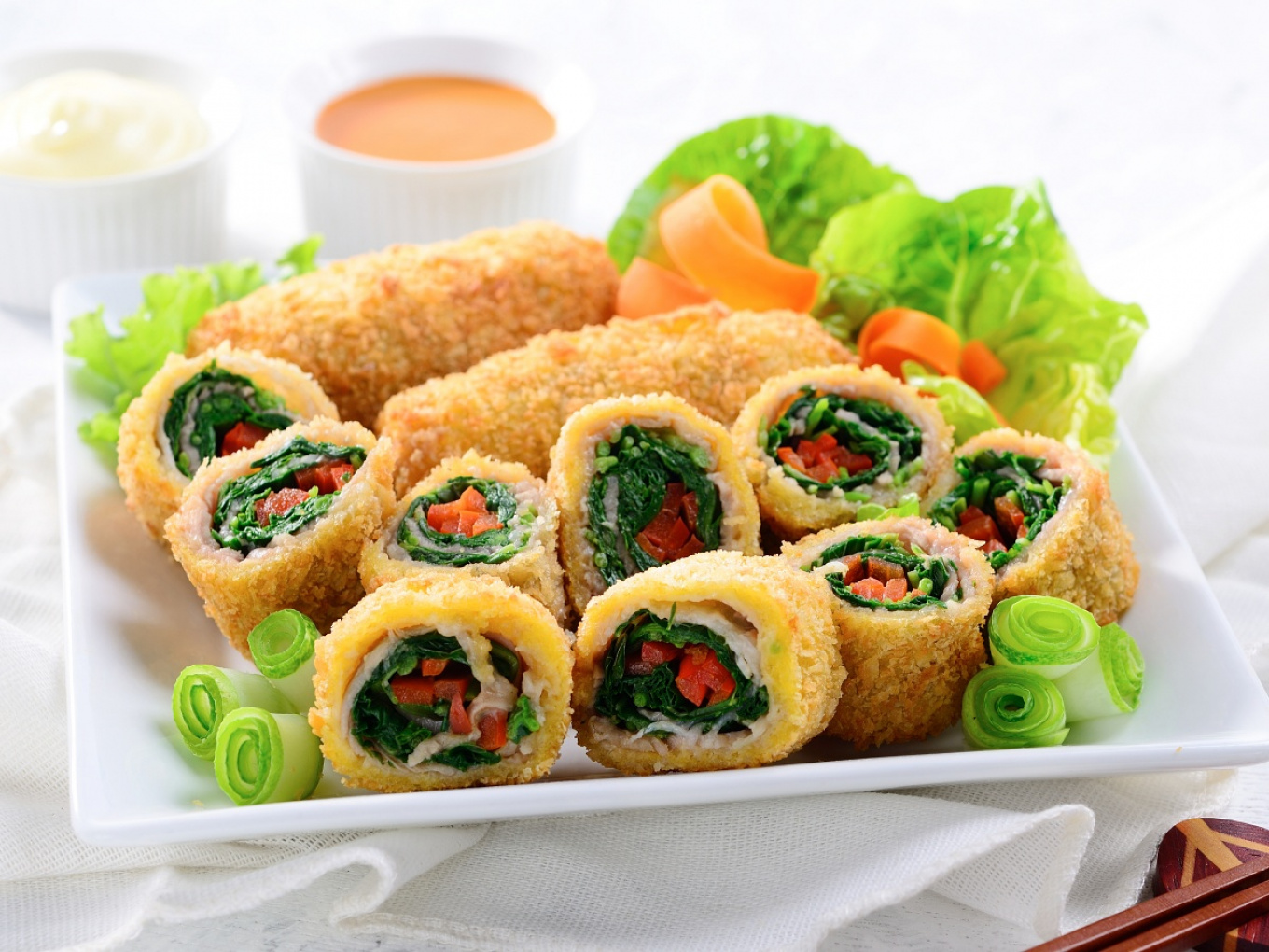 Spinach Rolled Meat