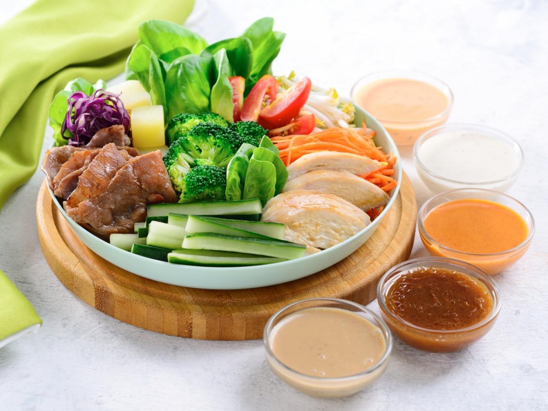 Combination Salad with KEWPIE Salad Dressing