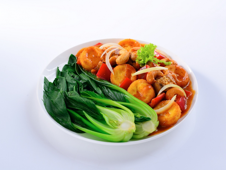 Tumis Bokcoy dengan Tofu dan Mede