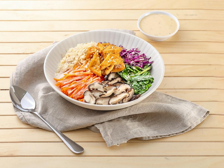 Nasi Kembang Kol dengan Sayuran