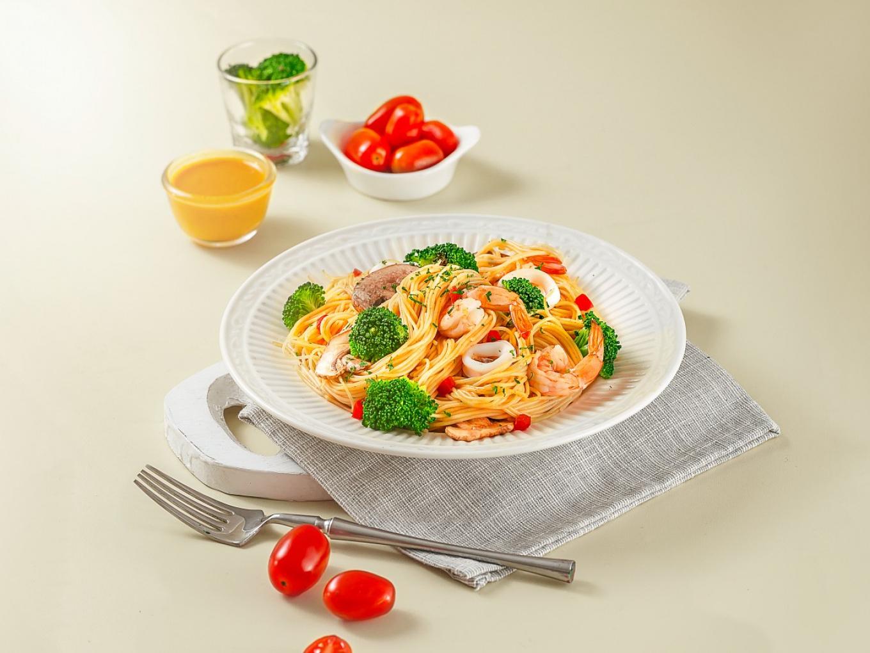 Seafood Broccoli Pasta