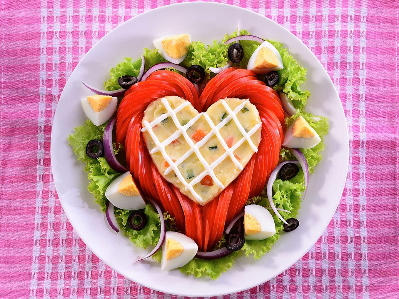Heart-Shaped Potato Salad