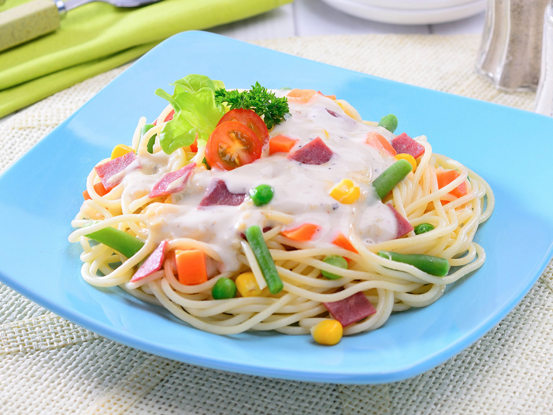 Spaghetti with Caesar Sauce