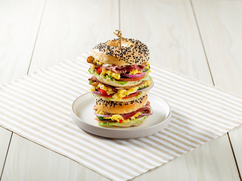 Sandwich Bagel Tower